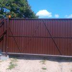 Изображение пример №15 работ откатных ворот из профлиста компании «Ворота Юг Монтаж»