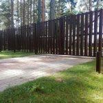 Изображение пример №14 работ распашных ворот из евро-штакетника с автоматикой компании «Ворота Юг Монтаж»