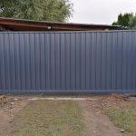 Изображение пример №12 работ откатных ворот из профлиста компании «Ворота Юг Монтаж»