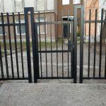 Изображение пример №7 работ распашных ворот с калиткой решётчатые компании «Ворота Юг Монтаж»